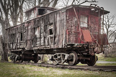 Old, Weathered Caboose royalty free stock photos