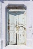 Weathered Door. On the Greek island of Santorini, Aegean Sea, Europe, Greece Stock Image