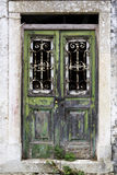 Weathered door, Corfu, Greece Royalty Free Stock Photography