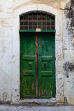 Weathered door on the old town of Chania Stock Photography