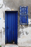 Weathered door on the old town of Chania Royalty Free Stock Photos