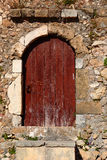 Weathered door on the old town of Chania Royalty Free Stock Photography