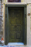 Weathered door on the old town of Chania Royalty Free Stock Photo