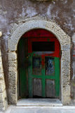 Weathered door on the old town of Chania Royalty Free Stock Image