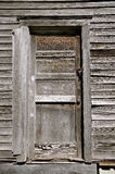 Weathered  door of a one room schoolhouse Royalty Free Stock Images