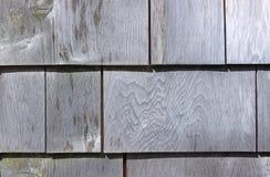 Weathered exterior cedar shingles Royalty Free Stock Photos
