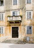Weathered Facade Stairs Croatia. House view of weathered facade stairs in Zadar, Croatia stock photo