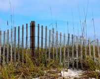 Weathered fence at Florida beach Royalty Free Stock Images