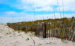 Weathered fence at Florida beach Stock Photography