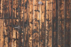 Weathered fir planks on old house Royalty Free Stock Image