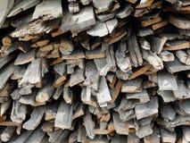 Weathered firewood background Stock Photography