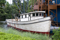 Weathered fishing boat Stock Photos