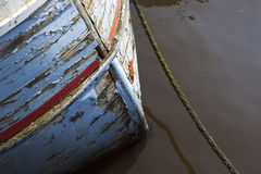 Weathered fishing boat hull Royalty Free Stock Image