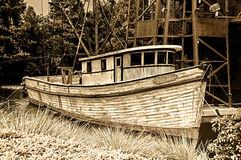 Weathered fishing boat Stock Images