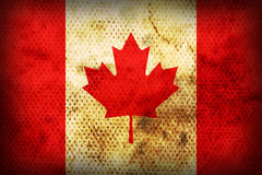 Weathered flag of Canada Royalty Free Stock Images