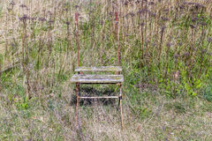 Weathered folding chair Royalty Free Stock Images