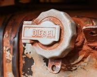 Weathered fuel cap tank car Royalty Free Stock Image