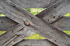 Weathered Gate Closeup Stock Image