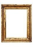 Weathered Golden Picture Frame w/ Path Royalty Free Stock Images