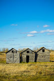 Weathered Grain Bins Stock Images