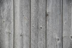 Weathered wooden boards, gray and cracked Royalty Free Stock Image