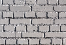 Weathered gray color brick wall pattern. Royalty Free Stock Images
