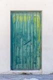 Weathered Green Door Stock Photography