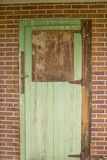 Weathered green door Royalty Free Stock Photo
