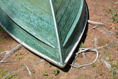 Weathered Green Row Boat