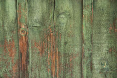 Weathered green wood Royalty Free Stock Images