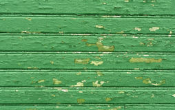 Weathered green wooden house texture. Royalty Free Stock Photography