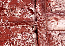 Weathered grungy painted wooden wall texture. Stock Photography