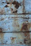 Weathered ha dipinto le sponde di legno della barca immagini stock libere da diritti