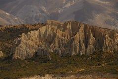 Weathered hillscape. Otago landscape of eroded hills Stock Photos