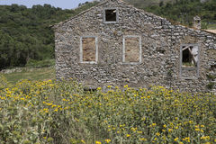 Weathered house on Corfu, Greece Royalty Free Stock Photos