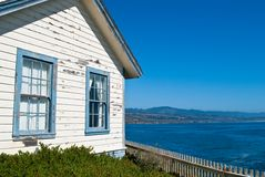 Weathered House by the Sea. In Central California, USA Royalty Free Stock Photo