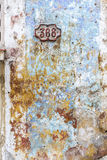 Weathered house wall background Stock Photo