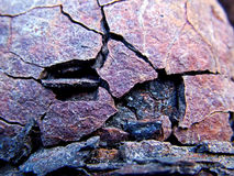 Weathered Iron. This weather beaten iron once controlled the direction that railway trains went Stock Photos