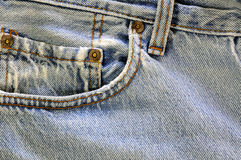 Weathered jeans pocket Stock Image