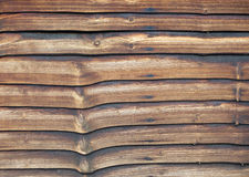Weathered larch lap fence panel Stock Photo