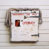 Weathered Lifebuoy. At a Ferry Terminal in Australia Stock Image