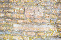 Weathered limestone wall Stock Photo