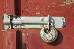 Weathered lock and bolt Royalty Free Stock Photography