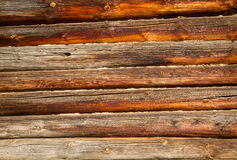 Weathered logs background Royalty Free Stock Photo