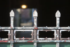 Weathered metal fence Royalty Free Stock Image