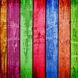 Weathered multicolor wooden planks Royalty Free Stock Photography