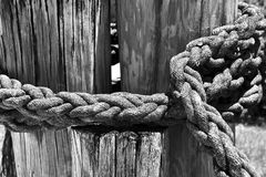 Weathered Nautical Rope Royalty Free Stock Images