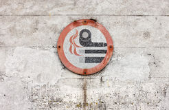 Weathered No Smoking Sign Stock Photo