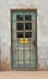 Weathered old door. In an abandoned building - Iceland Stock Image