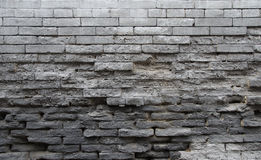 Weathered old grey brick walls Stock Image